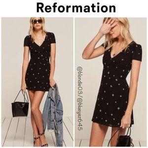 "Reformation ""Jenna"" constellation dress 6"